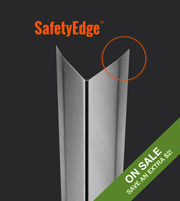 0.048″ / 18 Gauge Medium Duty Corner Guard with SafetyEdge™
